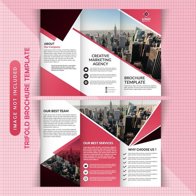 Diseño de folleto tríptico Vector Premium