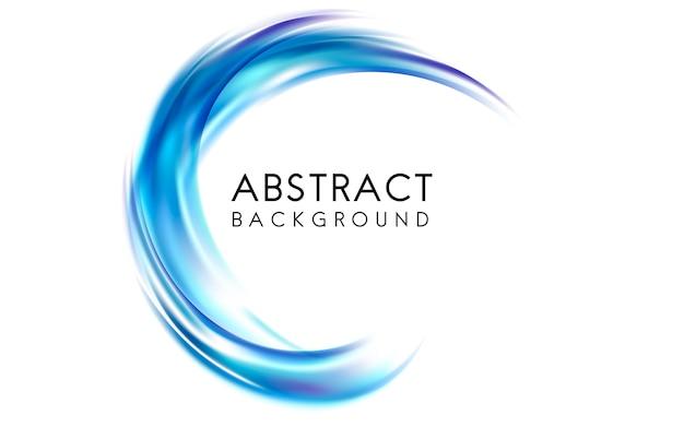 Diseño de fondo abstracto en azul vector gratuito