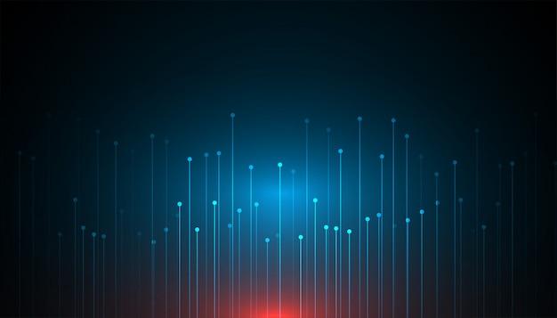 Diseño de fondo abstracto concepto de tecnología de datos grandes vector gratuito