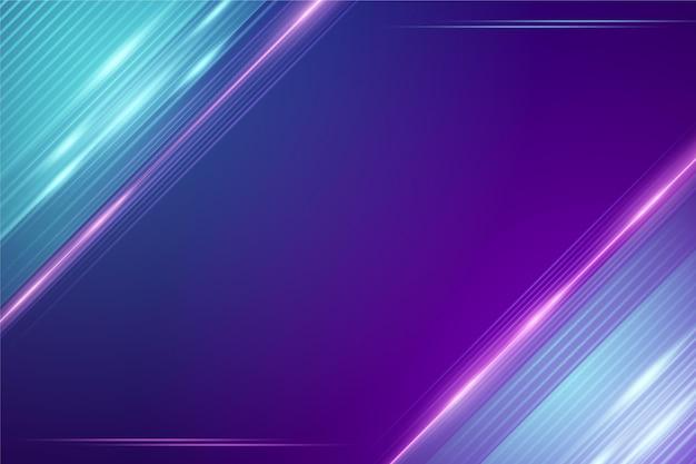 Diseño de fondo abstracto luces de neón Vector Premium