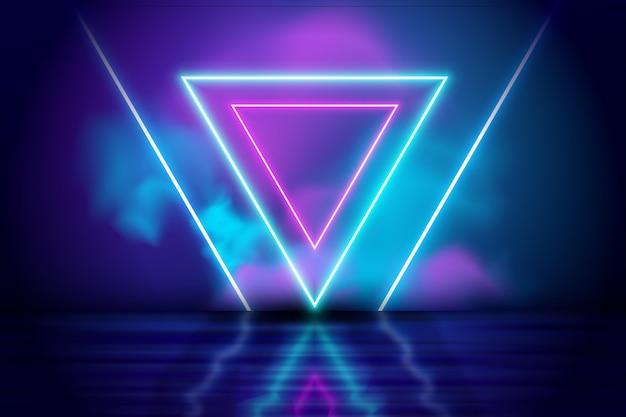 Diseño de fondo abstracto luces de neón vector gratuito