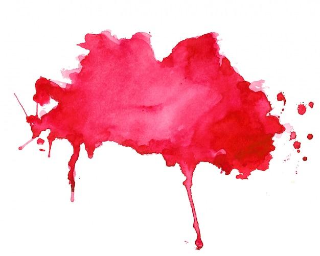 Diseño de fondo abstracto rojo acuarela splash textura vector gratuito