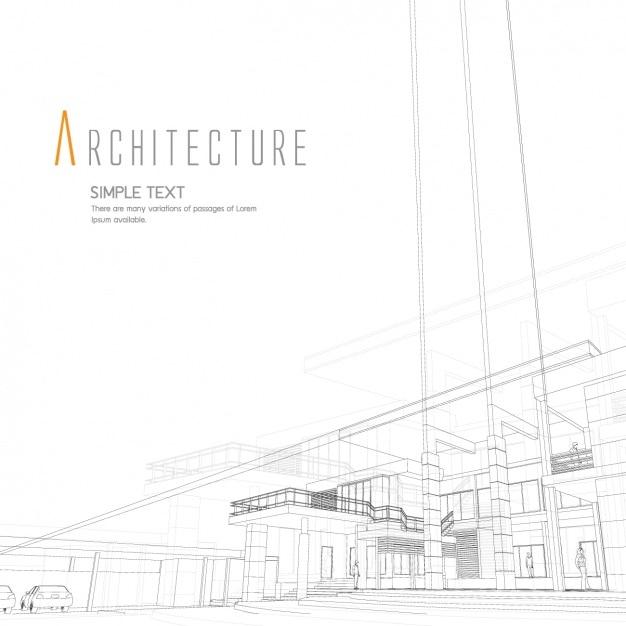 Diseño de fondo de arquitectura vector gratuito