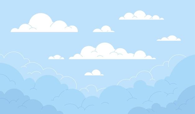 Diseño de fondo de cielo vector gratuito