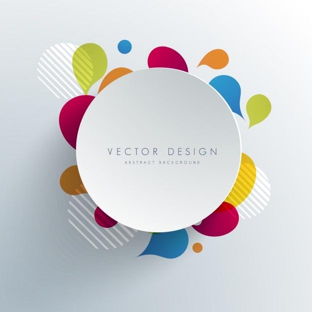 Diseño de fondo a color vector gratuito