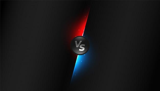 Diseño de fondo de competencia negro versus vs pantalla vector gratuito