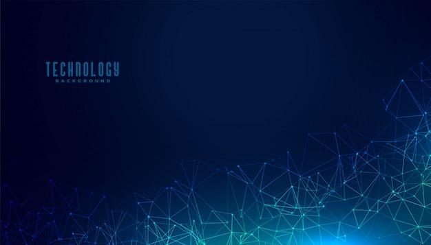 Diseño de fondo de concepto digital de malla poligonal de tecnología vector gratuito