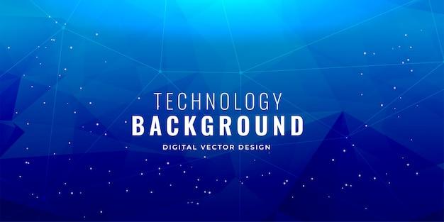 Diseño de fondo del concepto de tecnología azul vector gratuito