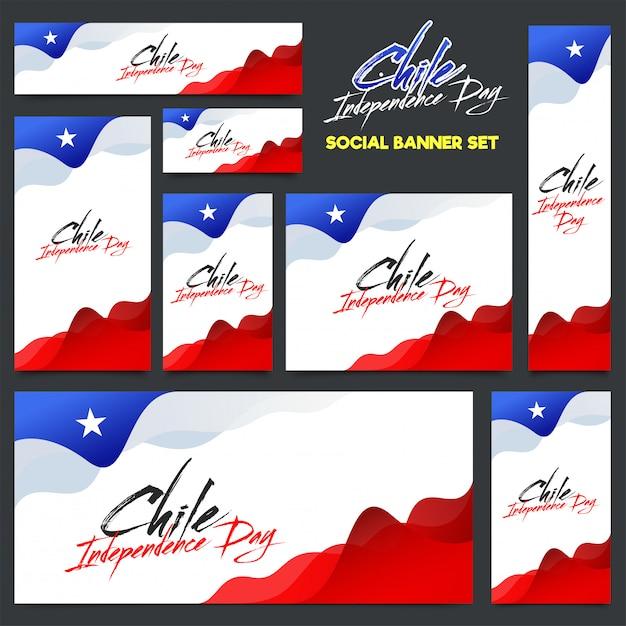 Diseño de fondo del día de la independencia de chile Vector Premium