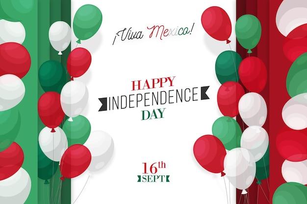 Diseño de fondo del día de la independencia de méxico vector gratuito