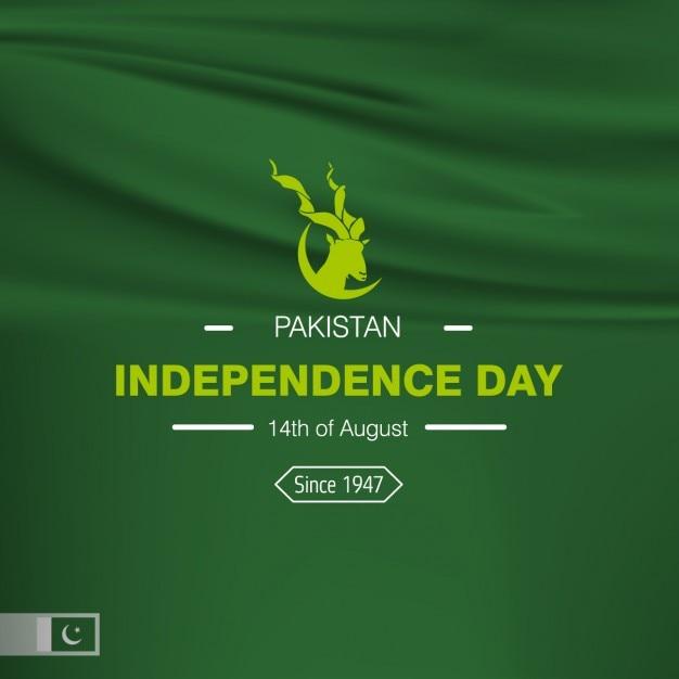 Diseño de fondo del día de la independencia de pakistán vector gratuito