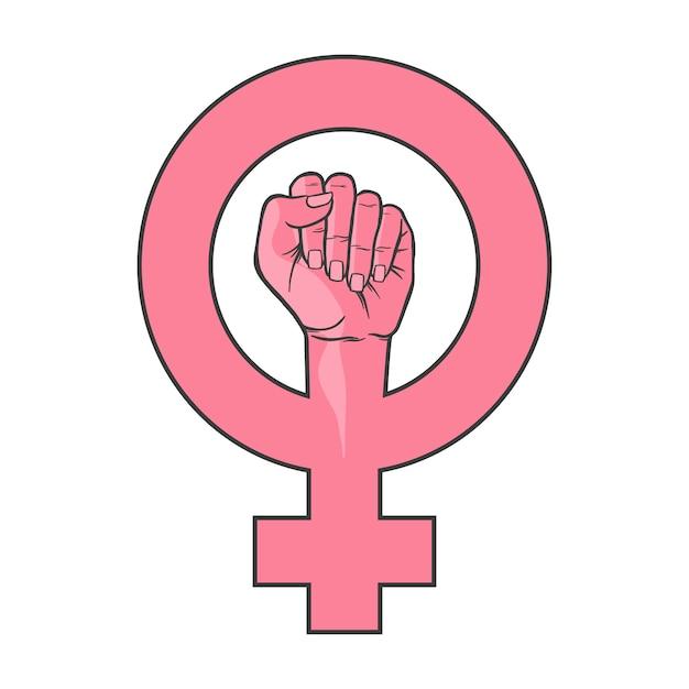 Símbolo utilizado para representar o feminismo. É rosa e simboliza a união e a força das mulheres.