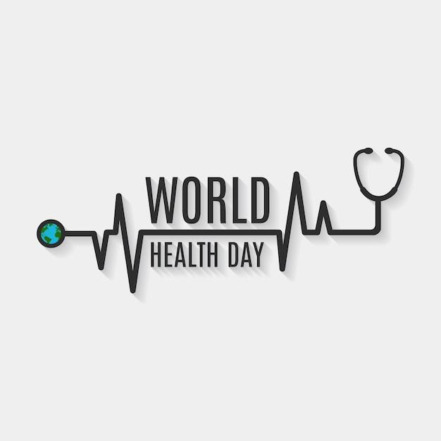Diseño de fondo del día de la salud vector gratuito