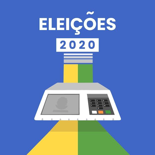 Diseño de fondo eleições 2020 Vector Premium