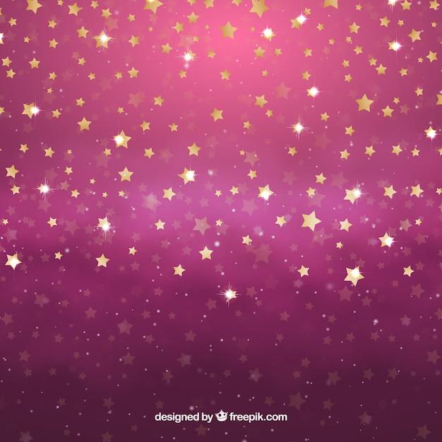 Fondo estrellas rosas