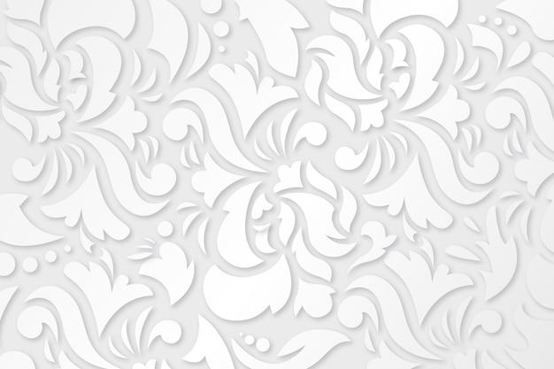 Diseño de fondo de flores ornamentales Vector Premium