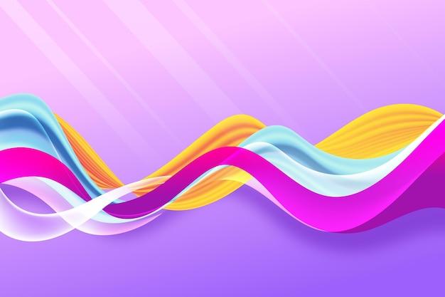Diseño de fondo de flujo de color Vector Premium