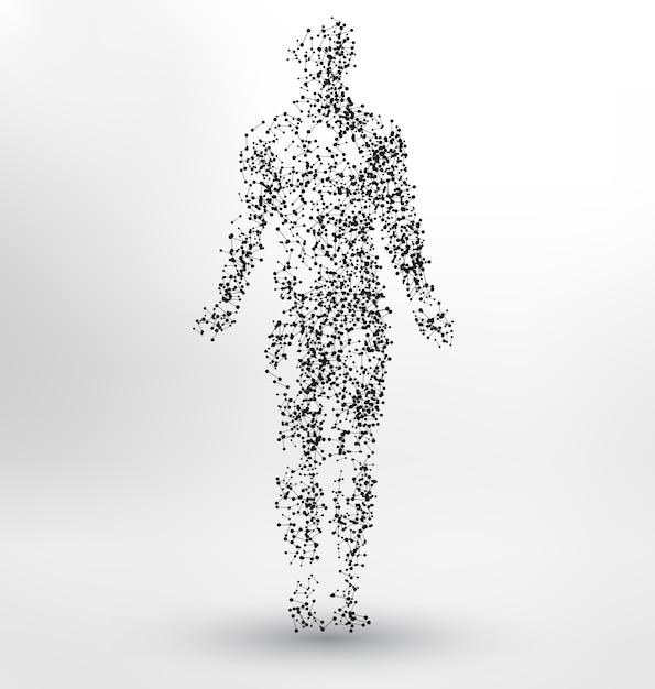 Diseño de fondo con forma de cuerpo humano vector gratuito