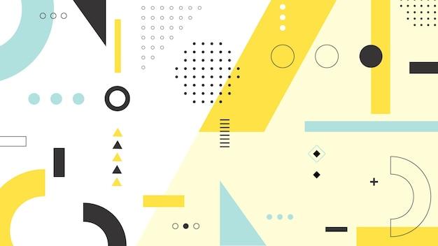 Diseño de fondo de formas geométricas Vector Premium