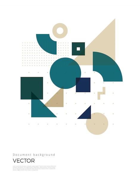 Diseño de fondo geométrico abstracto Vector Premium