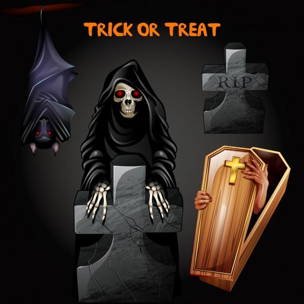 Diseño de fondo de halloween vector gratuito