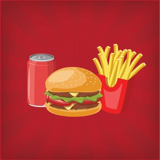 Diseño de fondo de hamburguesa vector gratuito