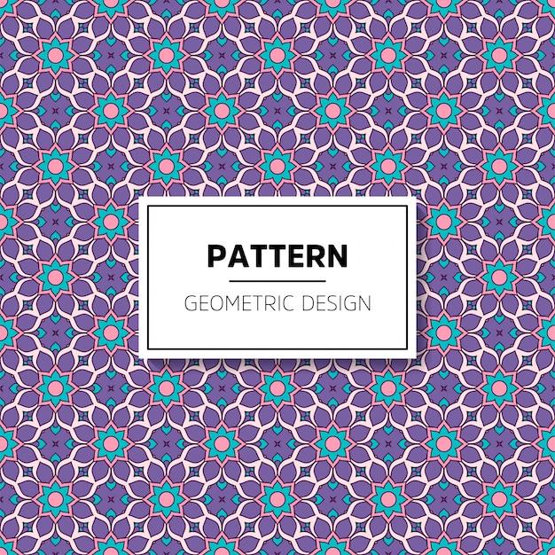 Diseño de fondo hermoso mandala de patrones sin fisuras vector gratuito