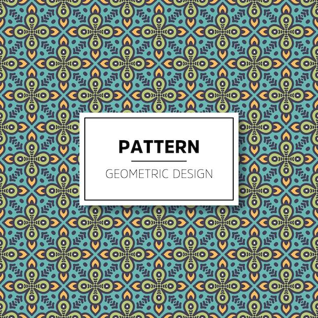 Diseño de fondo hermoso mandala de patrones sin fisuras Vector Premium
