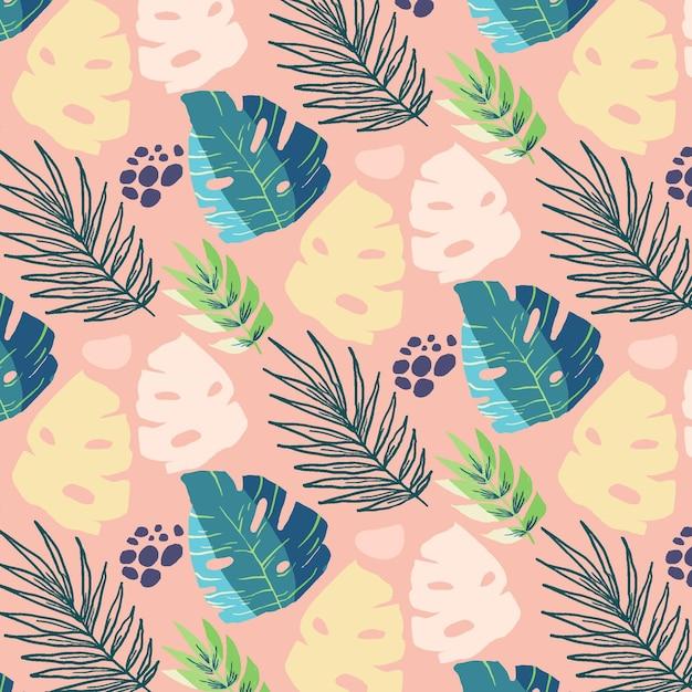Diseño de fondo de hojas de colores vector gratuito