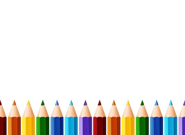 Diseño de fondo con lápices de colores   Descargar ...