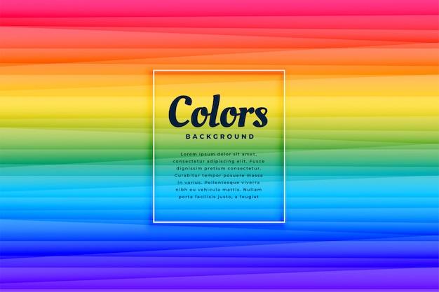 Diseño de fondo de líneas vibrantes de color abstracto del arco iris vector gratuito