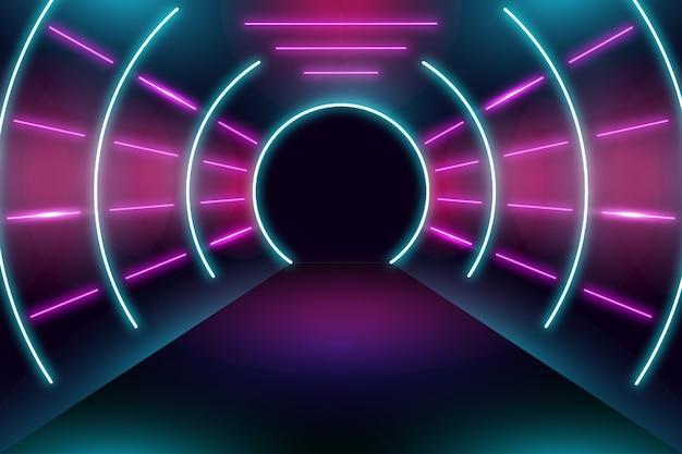 Diseño de fondo luces de neón vector gratuito