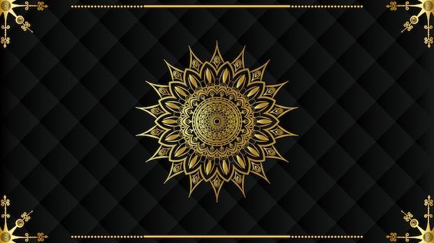 Diseño de fondo de mandala árabe de lujo Vector Premium