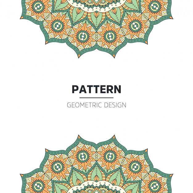 Diseño de fondo de mandala vector gratuito
