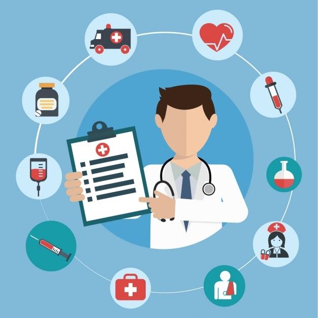 Diseño de fondo médico vector gratuito