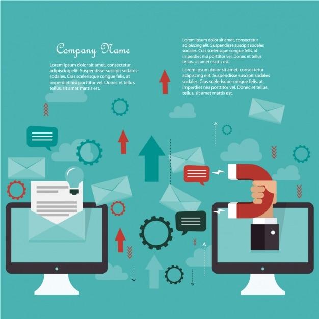Diseño de fondo de negocios vector gratuito