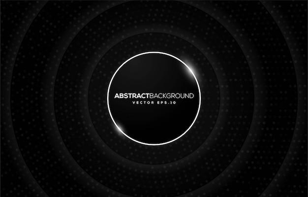 Diseño de fondo negro abstracto con concepto moderno Vector Premium