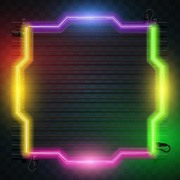 Diseno De Fondo De Neon Descargar Vectores Premium