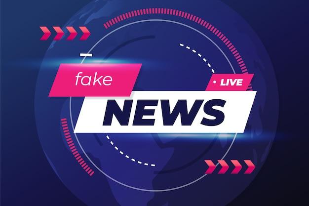 Diseño de fondo de noticias falsas vector gratuito