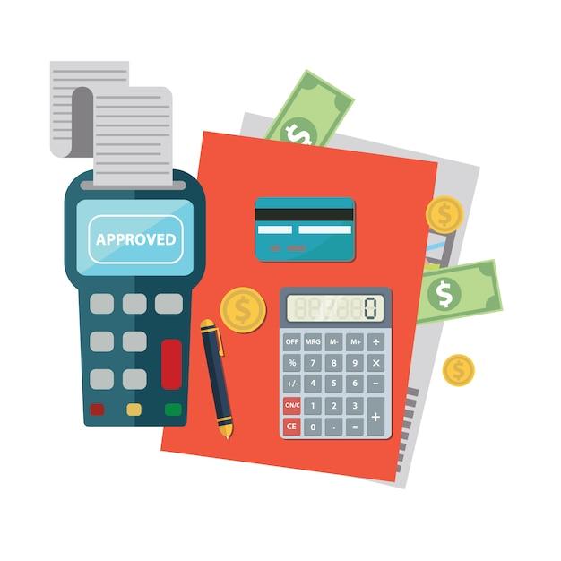 Diseño de fondo de pago vector gratuito
