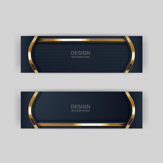 Diseño de fondo de papel de encabezados y pancartas Vector Premium