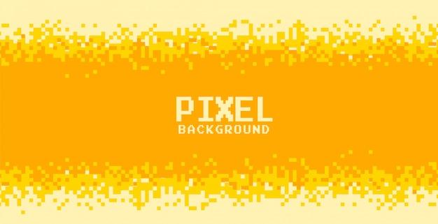 Diseño de fondo de píxeles de tonos amarillos y naranjas vector gratuito
