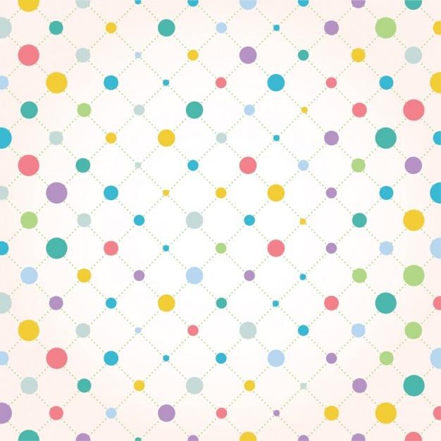 Diseño de fondo de puntos a color   Descargar Vectores gratis