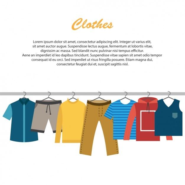 Diseño de fondo de ropa vector gratuito