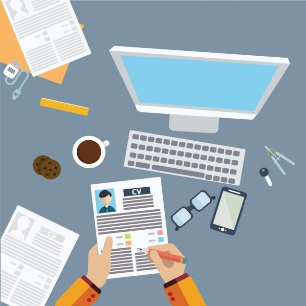 Diseño de fondo de sitio de trabajo vector gratuito