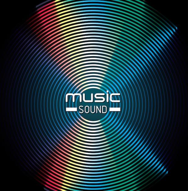 Diseño de fondo de sonido de música vector gratuito