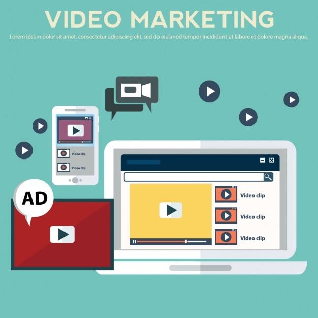 Diseño de fondo de video márketing vector gratuito