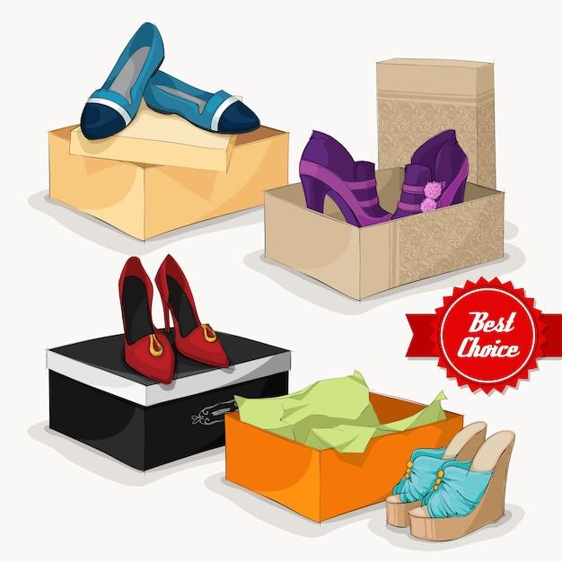 Imágenes De Caja De Zapatos Vectores Fotos De Stock Y Psd Gratuitos