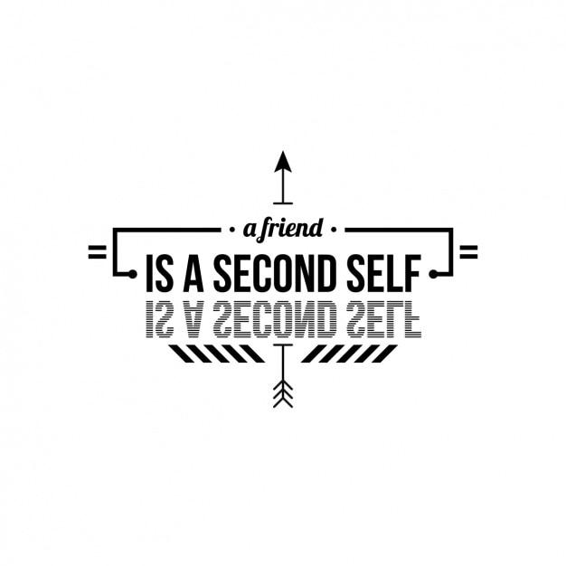 Diseño De Frase Sobre Amistad Vector Gratis
