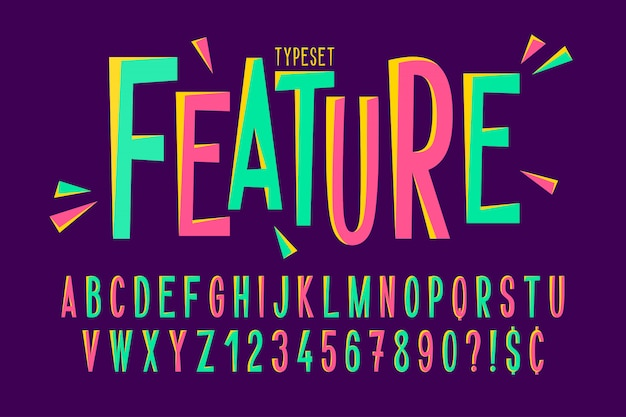 Diseño de fuente condensado cómico de moda Vector Premium